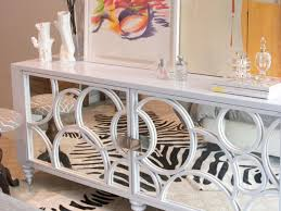 white mirrored credenza modern mirrored buffet cabinet creative