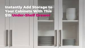 kitchen cabinet with shelves instantly add storage to your cabinets with this 15 shelf drawer