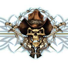 rebel cowboy skull