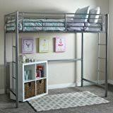 amazon com your zone metal loft twin bed silver kitchen u0026 dining