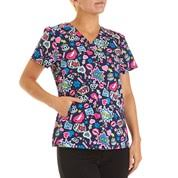 s scrub tops prints knit sides burlington