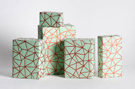 copper wrapping paper organic geometry wrapping paper mint copper