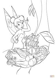 tinkerbell is trying to cook coloring page free printable