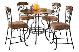 The Nola Counter Height Dining Room Table With   Barstools - Hyland counter height dining room table with 4 24 barstools