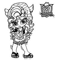 monster high doll coloring pages funycoloring