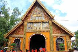 Decoration Of Temple In Home Wat Si Muang Temple In Vientiane Laos