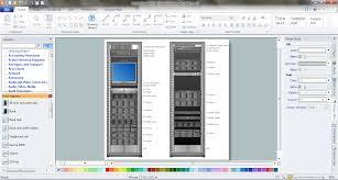 visio data center floor plan rack diagrams vector stencils library rack rate design