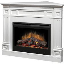 dimplex traditional 52 inch corner electric fireplace white
