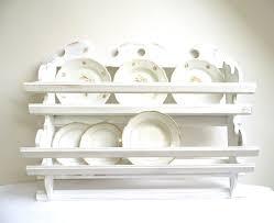 Kitchen Cabinet Plate Organizers Vintage Plate Rack Wall Holder Tea Cup Shelf Storage Kitchen