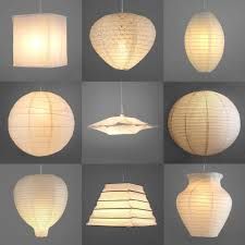 Light Bulb Shades For Ceiling Lights Pair Of Modern Paper Ceiling Pendant Light L Shades Lanterns