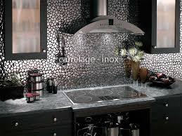 cuisine inox credence de cuisine realisee avec des galets en acier inox