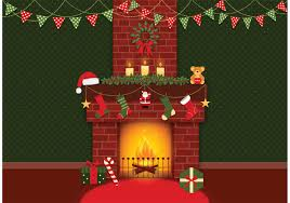holiday fireplace clipart clip art library