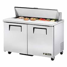 48 inch sandwich prep table used true stainless steel sandwich prep table