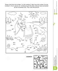 dot coloring pages dot to dot and coloring page donkey royalty free stock image