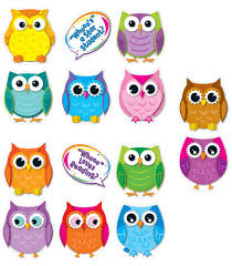 owl cut outs for teachers colorful owls cut outs workbooks