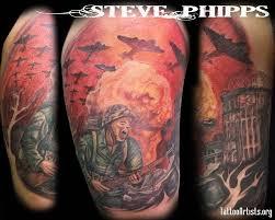 half sleeve war design tattoobite com wwii