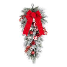 Decorative Garlands Home Christmas Swag Christmas Wreaths U0026 Garland The Home Depot