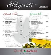 Pizzeria Bad Nauheim Speisekarte Osteria D U0027antonio