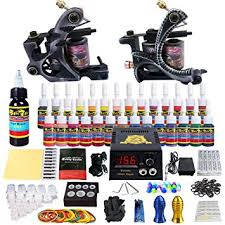tattoo kit without machine amazon com solong tattoo complete tattoo kit 2 pro machine guns 28