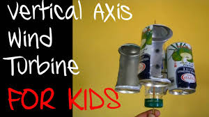 vertical axis wind turbine with recycled material youtube