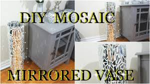diy mosaic mirrored glass vase home decor petalisbless youtube