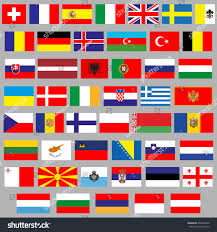 Flags Of European Countries Royalty Free Flags Of All European Countries 49 U2026 436250926 Stock