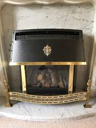 gas fire valor homeflame unigas real flame fire in black and brass