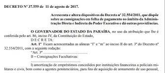 pagamento mes agosto estado paraiba ricardo coutinho assina decretos que transferem folha e pagamento de