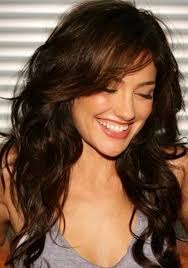 wavy hairstyle for medium length hair with bangs long hairstyles