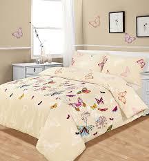 Uk Bedding Sets Bed Duvet Quilt Cover Bedding Set Multi Butterfly Glaze