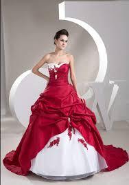 brautkleid rot wei hochzeitskleid neue schatz appliques taft weiß und rot brautkleid
