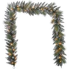 Christmas Garland With Lights by Donner U0026 Blitzen Incorporated 9ft Elegant Cashmere Garland With 50