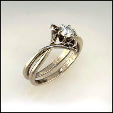 interlocked wedding rings interlocking wedding set with diamond celtic engagement rings