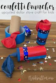 dollar store kids confetti launcher balloon and paper roll