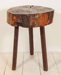 rustic wood side table rustic wood block tall side table rustic wood woods and tables