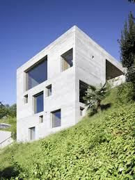 minimalist concrete home showcases stunning views and contemporary
