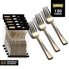 gold plastic silverware cutlerex heavy duty plastic flatware looks gold cutlery 130 forks