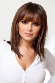 hairstyles that hit right above the shoulder medium length hairstyles with bangs for fine hair beauty