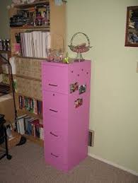 Pink Filing Cabinet Painted Filing Cabinet Maybe Not These Colors Craft Room