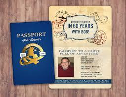 Travel Theme Any Age Sweet 16 Birthday Invitation Travel Invitation