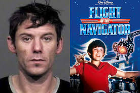 of the flight of the navigator child actor charged after robbing bank