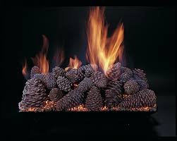 cjs hearth and home pine cones vented gas log set fireplace
