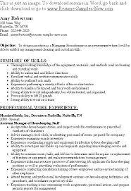 resume exles housekeeping housekeeper resume resume for housekeeper nanny housekeeper resume