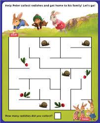 rabbit treehouse rabbit radish maze treehouse rabbit printables