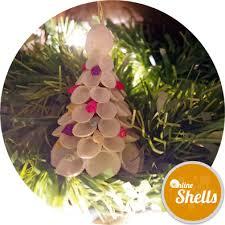 festive decor clam shells rose christmas tree online shells
