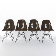 brown herman miller original vintage eames dsr arm shell chairs