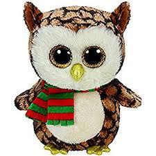 amazon ty beanie boo wise owl medium 9 soft plush