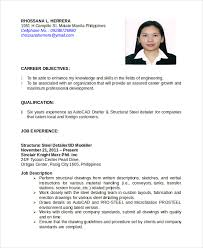 Job Experience Resume by Autocad Resume Template 8 Free Word Pdf Document Downloads