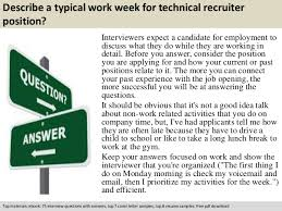Sample Resume For Recruiter Position by Technical Recruiter Interview Questions