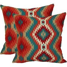 Southwest Outdoor Furniture by Mainstays Southwest Outdoor Toss Pillow 2 Pack Walmart Com